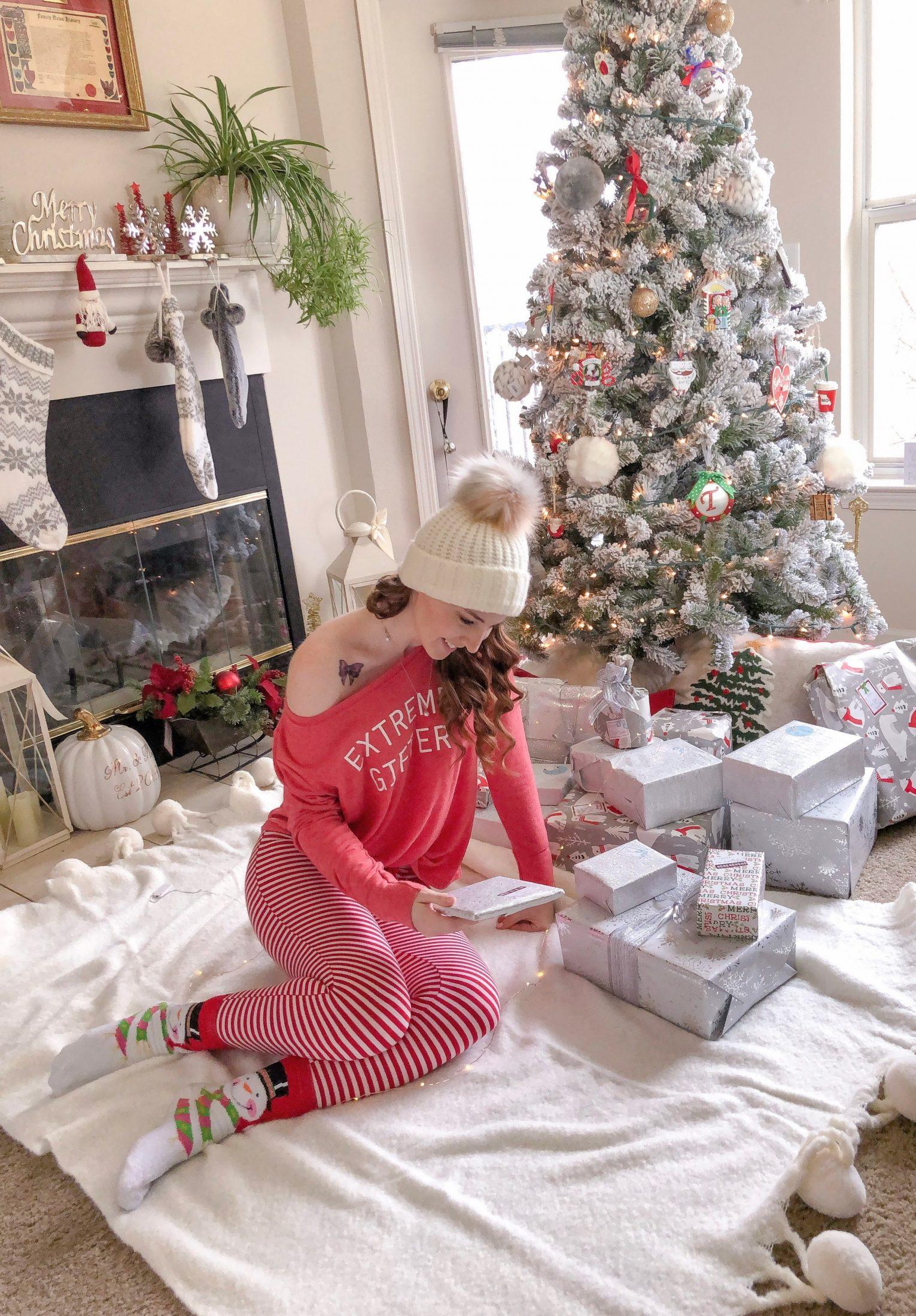 christmas pom pom blanket
