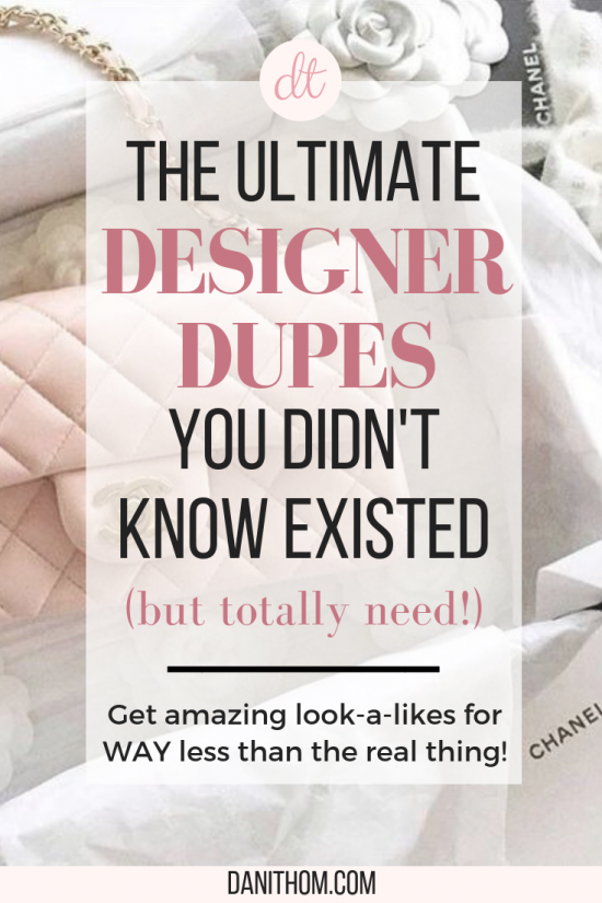 best designer dupes