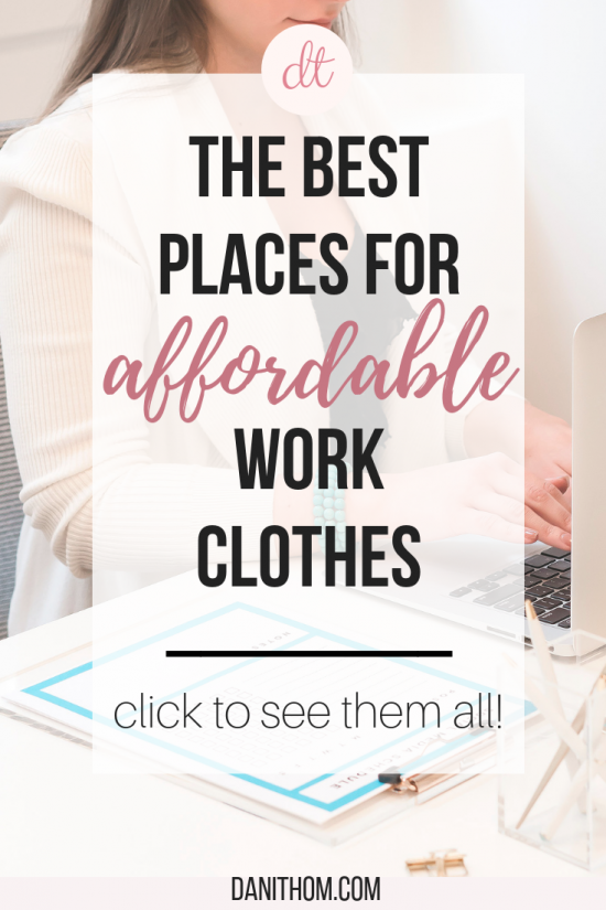 affordable work clothes